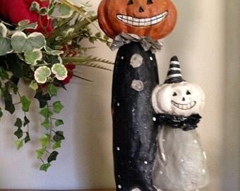 Halloween Vintage Pumpkin Heads