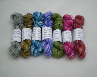 Mini Skeins - Knit One Crochet Too Crock-O-Dye 5 g set of 7