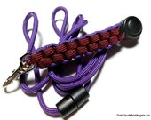 Paracord Lanyard,Lanyard for Men,Lanyard for Women,Breakaway Lanyard,Purple Lanyard,Paracord Id Badge,Red Lanyard,Customize Colors,Handmade