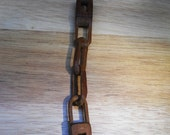 Hand Carved Whittled Wood Folk Art Chain