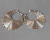 1.60 inch diameter  Balinese Sterling Silver Hoop Earrings / silver 925 / Bali Handmade Jewelry