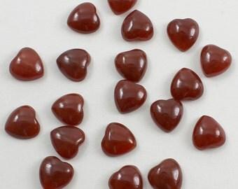 Carnelian Hearts 12mm 19 pieces Destash Sale Discount Clearance