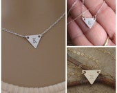 Triangle initial necklace - Personalized necklace - Small initial necklace - Teen girl jewelry - Geometric Silver or Gold Triangle necklace