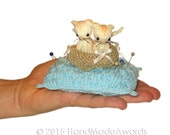 Two Little Cats Pincushion Pdf Email Knit PATTERN