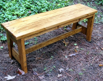 Bench Pine with Wide Seat 45 Inch AT Style