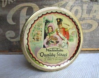 Vintage Mackintosh's Quality Street Candy Tin Made in England