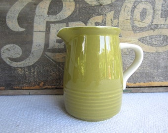 Vintage Mikasa Everfresh Green Creamer works with Strawberry Hill