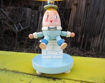 Vintage Humpty Dumpty Nursery Lamp Wood Child Nursery Decor