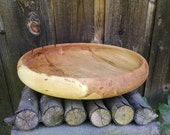 Wood Bowl - Reclaimed Maple Wood Wooden Bowl - Rustic Farmhouse Home Decor - Hand Turned Wood Bowl