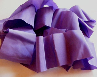 Vintage 1930's-40's French Rayon Satin Ribbon 2 3/4 Inch Violet