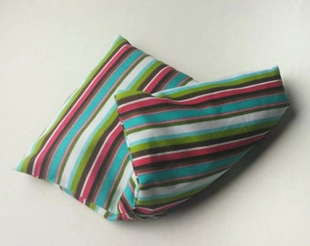 Colorful Striped Microwave Heat & Cold Ice Pack ~ Natural Pain Relief, Hot and Cold Theraputic Benefits, Relaxing Soothing Warmth  9x6 Small