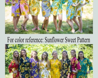 Sunflower - Any Style Any Color Robe, Kaftan, PJ, Skirt, Maternity Robe, Apron, Shirt, Summer Dress, Shorts, Jacket - You name it