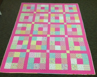 Pink Squares Quilt