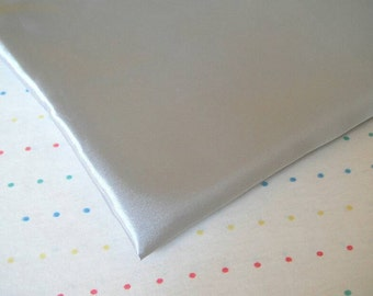 """Silver Satin Lining Fabric, 60"""" Wide, BTY"""