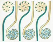Fiddlehead Ferns -  Decals for Ceramic, Glass and Enamel