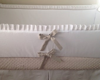 Navy Blue Crib Sheet Minky Dot Only