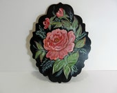 Hand Painted Rose Wall Hanging