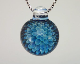 Glass Pendant - Hand Blown Glass Jewelry - Trippy Glass Necklace - Heady Glass Pendant