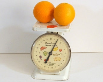 Vintage Kitchen Scale by American Family, Large Dial With Food Graphics