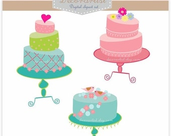 ON SALE clip art, Digital clip art for all use, cakes ,Instant download cake clip art