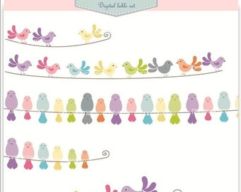 ON SALE Banner clip art. for all use, birds and bird banners.INSTANT Download