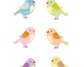 ON SALE Clip art birds, candy birds, instant download