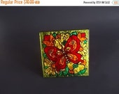on sale Vintage Small Mod Foil Butterfly Picture // Save for Melissa
