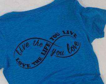 Infinity Blue V-Neck Shirt
