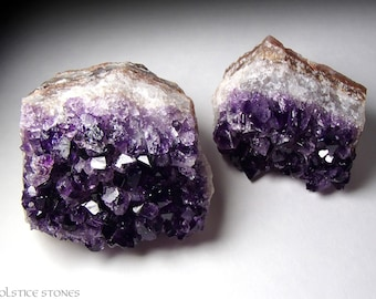 Pair of Large Uruguayan Amethyst Clusters, Dark AA Grade Pieces // Third Eye Chakra // Crystal Healing // Mineral Specimen