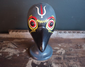 Vintage Birdman Head Sculpture Display