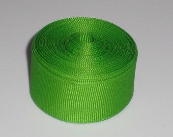 Apple Green 7/8 inch Solid Grosgrain Ribbon 10 yards
