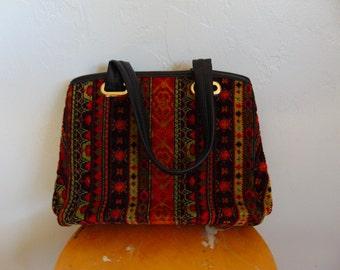 60s mod TAPESTRY handbag purse