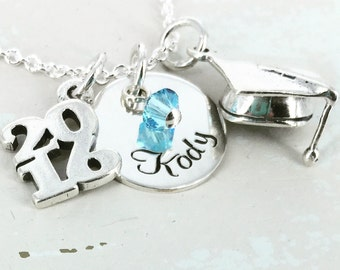 Personalized graduation name necklace - Personalized Necklace - Graduation Jewelry - Graduation Necklace