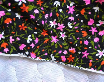Vintage Fabric - THC Hawaiian Textile - Quilted Backed Crepe Barkcloth