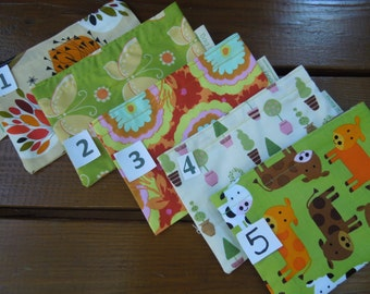 Reusable snack bags on sale - LOTS OF CHOICES  - Please read description before purchasing