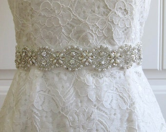 Pearl Crystal Rhinestone Bridal Belt,Wedding Belt,Bridal Sash,Bridal Accessories,Bridal Belt,Style #03