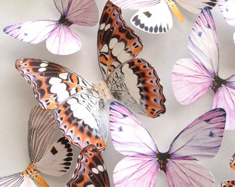 lavender NURSERY DECORATION - 3D lavender blush butterflies - wall art decoration - lavender butterfly - purple butterflies - Uniqdots