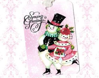 Christmas, Gift Tags, Snowman, Seasons Greetings, Christmas Tags, Children