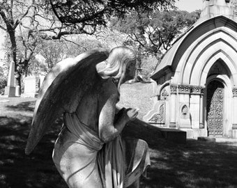 Angel, Green-wood Cemetery - Fine Art Photograph, Brooklyn, NYC