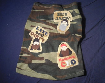 Duck Dynasty inspired Doggie tee (not a licensed product)
