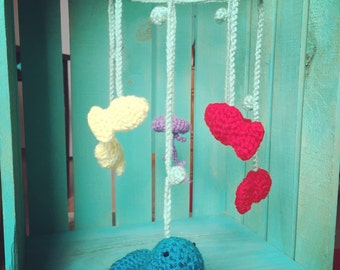 Crocheted Undersea Mobile