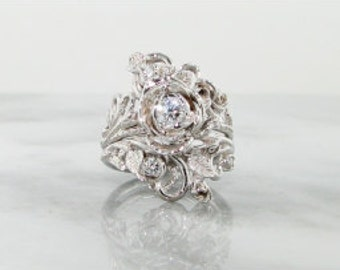 Custom listing for White Gold & AAA Pink Sapphire Jane Rose Wedding Set