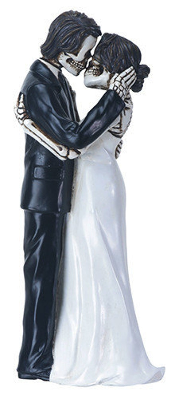Halloween Wedding Cake Toppers Bride And Groom First Kiss True
