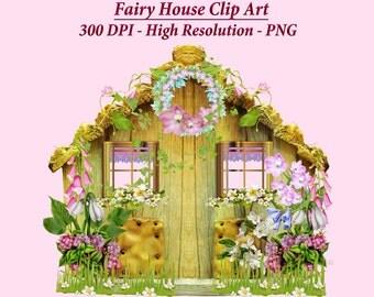 Fairy House Clipart, Fairy Clipart, Fairy House Graphics