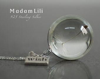 925 Sterling Silver True Dandelion Necklace