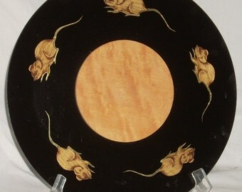 Vintage Couroc Cheeseboard Cheese and Cracker Tray with Mice