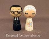 Reserved for denisaberbic Kokeshi Wedding Cake Toppers