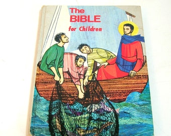 The Bible For Children Written And Illustrated By The Daughters Of St Paul, Vintage Book