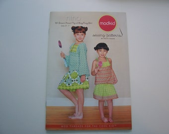 MODKID SEWING PATTERN  -  All-Season Peasant Top and Easy Peasy Skirt - Mod Threads for the cool Kid  -  Boutique Pattern  -  Size 2T thru 7