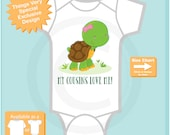 My Cousins Love Me Onesie or Tee Shirt with cute little turtle (10052015d)